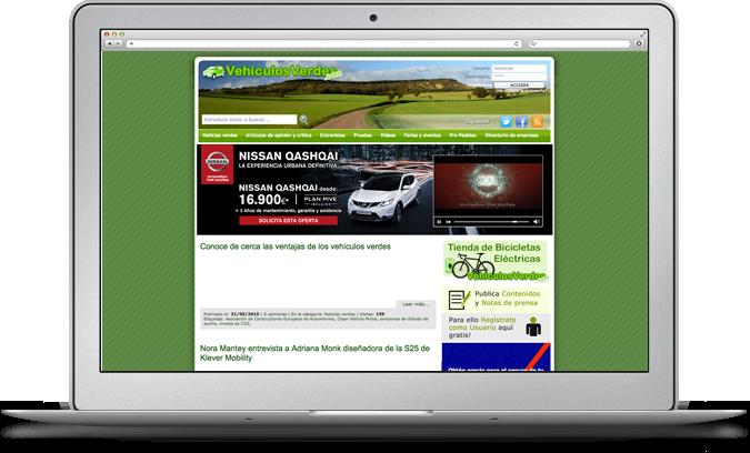 Información sobre vehículos ecológicos, coches, camiones, motos y bicicletas eléctricas
